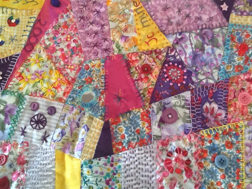 Jaffa Crazy Quilt Chrisse Textile Stitcher